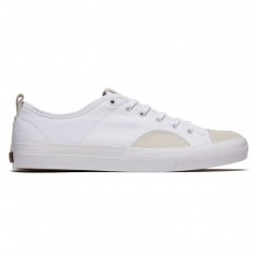 State Harlem Shoes - White/White Canvas