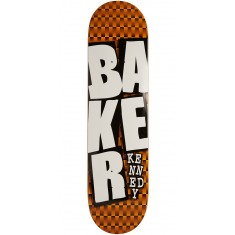 Baker Kennedy Stacked ORG Checkers Skateboard Deck - 8.00""