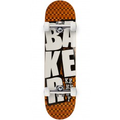 Baker Kennedy Stacked ORG Checkers Skateboard Complete - 8.00""