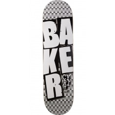 """Baker Cyril Stacked BLK Checkers Skateboard Deck - 8.125"""""""