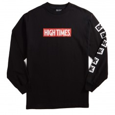 DGK X High Times Lock Up Long Sleeve T-Shirt - Black