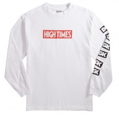 DGK X High Times Lock Up Long Sleeve T-Shirt - White