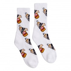 40s And Shorties 40s Hands Socks - White