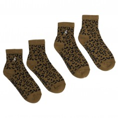 40s And Shorties Blank Half (2 Pack) Socks - Leopard