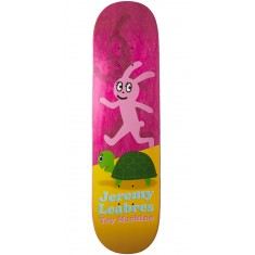 """Foundation Leabres Turtle And Hare Skateboard Deck - Pink - 8.25"""""""