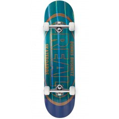 """Real Busenitz Holographic Oval Skateboard Complete - 8.18"""" - Teal"""