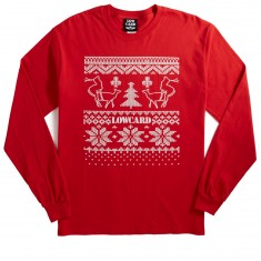 Lowcard Ugly Sweater Contest Long Sleeve T-Shirt - Red