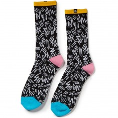 The Quiet Life Ziggity Socks - Black