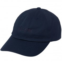 Welcome Tonal Scrawl Unstructured 6-Panel Hat - Navy