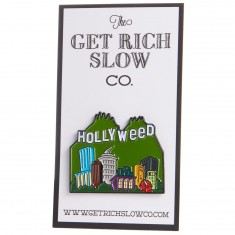 Get Rich Slow Hollyweed Pin