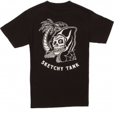 Sketchy Tank Happy Hour T-Shirt - Black