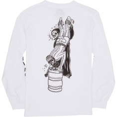 Sketchy Tank Beer Savage Long Sleeve T-Shirt - White