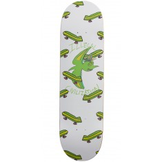 Illegal Civilization Green Dino Skateboard Deck - 8.5