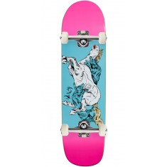 Welcome Goodbye Horses on Son of Planchette Skateboard Complete - Pink/Blue - 8.38