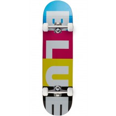 Blue Stripes CMYK Skateboard Complete - 8.25""