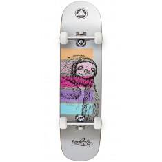 Welcome Sloth on Bunyip Skateboard Complete - Silver - 8.0