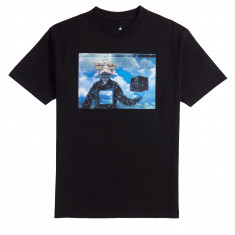 Pyramid Country Floater T-Shirt - Black/Sky