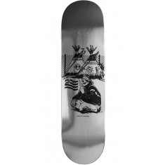 "Politic Native Skateboard Deck - 8.38"" - Silver/Black"