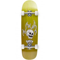 Baker From The Grave Shaped Skateboard Complete - 8.75 - Green Stain