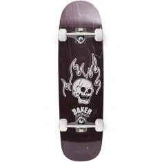 Baker From The Grave Shaped Skateboard Complete - 8.75 - Black Stain