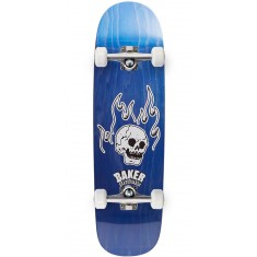 Baker From The Grave Shaped Skateboard Complete - 8.75 - Blue Stain