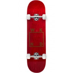 WKND Gold Logo Skateboard Complete - Red - 7.75""
