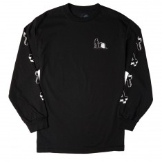 Sketchy Tank Grave Long Sleeve T-Shirt - Black