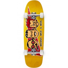 "Black Label Max Evans Manny, Moe, and Max Skateboard Complete - 9.63"" - Yellow"
