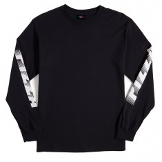 Pizza Disolving Speedy Long Sleeve T-Shirt - Black