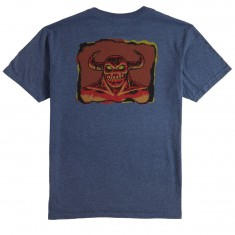 Toy Machine Hell Monster T-Shirt - Heather Navy