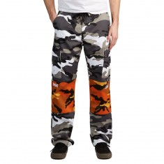 DGK X Gnarcotic Dirty OG Cargo Pants - Black/White Camo