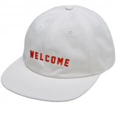 Welcome Academic Unstructured 6 Panel Snapback Hat - White/Orange