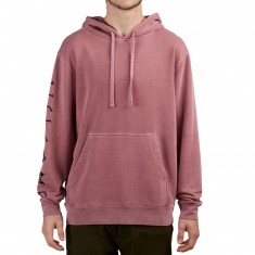 Welcome Tali Scrawl Pigment Dyed Hoodie - Maroon