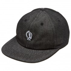 Old Friends Globe 6 Panel Hat - Denim Black