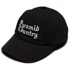 Pyramid Country Gothica 6 Panel Hat - Black/White