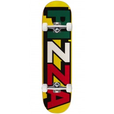 Pizza Tri Logo Skateboard Complete - Yellow - 8.25""