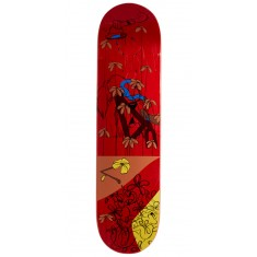 "Less Than Local Jupe Flowers Skateboard Deck - 8.00"" - Red Stain"