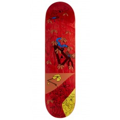 "Less Than Local Jupe Flowers Skateboard Deck - 8.25"" - Red Stain"