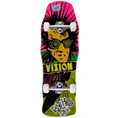"Vision Psycho Stick Skateboard Complete - 10.00"" - Lime Stain"