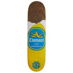 """Element You Are What You Eat Banana Skateboard Deck - 7.875"""" - Brown Stain"""
