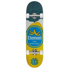 """Element You Are What You Eat Banana Skateboard Complete - 7.875"""" - Blue Stain"""