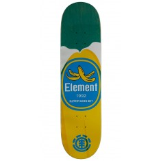 """Element You Are What You Eat Banana Skateboard Deck - 7.875"""" - Green Stain"""