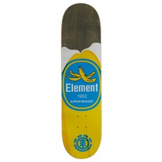 """Element You Are What You Eat Banana Skateboard Deck - 7.875"""" - Grey Stain"""