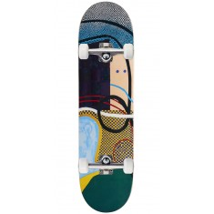 Baker Nuge Checkered Puzzle Skateboard Complete - 8.25""