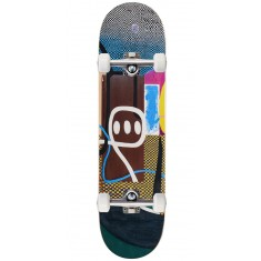 """Baker Hawk Checkered Puzzle Skateboard Complete - 8.125"""""""