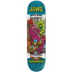 """Birdhouse Jaws Vices Skateboard Complete - 8.25"""" - Teal Stain"""