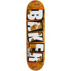 "Baker Theotis Brand Name Rose Gold Skateboard Deck - 8.25"" - Orange Stain"