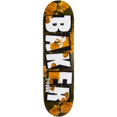 "Baker T Funk Brand Name Rose Gold Skateboard Deck - 8.475"" - Green Stain"