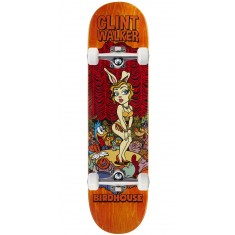 "Birdhouse Walker Vices Skateboard Complete - 8.125"" - Orange Stain"