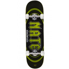 "Real Actions Realized Nate Relentless Skateboard Complete - 8.25"" - Green Stain"